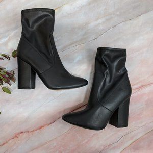 Marc Fisher Shoes - Marc Fisher Black Block Heeled Leather Boots